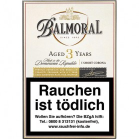 "Balmoral Aged Selection Short Corona ""Aged 3 years"""