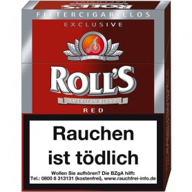 Rolls Exclusive Red Naturdeckblatt 23 Filterzigarillos