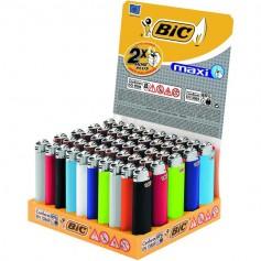 BIC Feuerzeug J26 Reibrad Maxi neutral farbig sortiert, kindergesichert