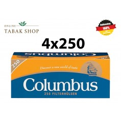 Columbus Hülsen 4x250er (1000 Hülsen) + 2 Feuerzeuge