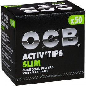 OCB Activ`Tips Slim 7mm / 1 Packungen á 50 Filter