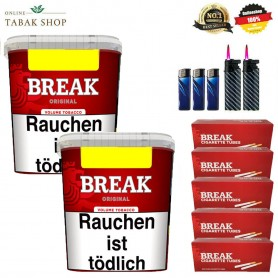 2x Break Original Volumentabak 240g ,1000 Break Hülsen