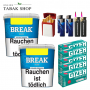 2x Break Blau Original Volumentabak 230g ,1000 Menthol Extra Hülsen , 4 Feuerzeuge , 2 Sturmfeuerzeuge 1x Gizeh Etui