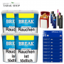 4x Break Blau Volumentabak 230g, 2000 Gizeh Special Hülsen, 3 Feuerzeuge , 2 Sturmfeuerzeuge , 1 Gizeh Etui