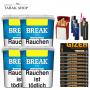 Break Blau Volumentabak (4x 230g), 2000 Gizeh Extra Hülsen, 3 Feuerzeuge , 2 Sturmfeuerzeuge , 1 Gizeh Etui