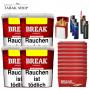 Break Original Volumentabak Tabak (4 x 230g)+2.000 Break Hülsen+ 3 Feuerzeuge + 2 Sturmfeuerzeug + Etui