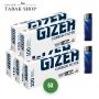 GIZEH Carbon Filter Hülsen (5x 100) + 2x Feuerzeuge