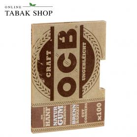 OCB Craft Ungebleicht 100er Blatt Zigarettenpapier