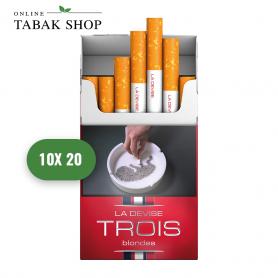 """LA DEVISE """"TROIS"""" blondes Zigaretten (10 x 20er) - 55,00€"""