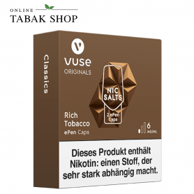 Vuse ePen Caps Nic Salts Rich Tabacco