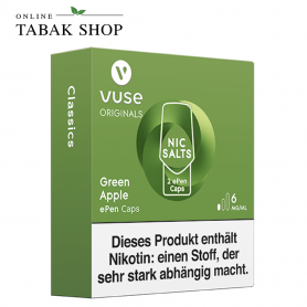 Vuse ePen Caps Nic Salts Green Apple