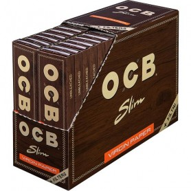 OCB Unbleached Slim Virgin Zigarettenpapier + Tips 32x32Bl